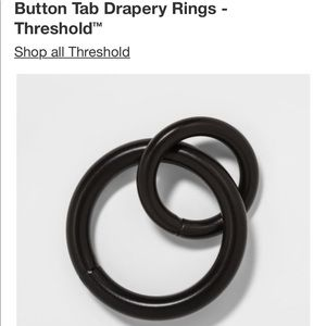 "Threshold Accents - 21 Threshold brand Curtain rings fits 1"" rod"